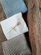 Úžitkový textil - Ľanový uterák Natural I (Modrá) - 9201083_
