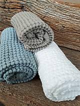 Úžitkový textil - Ľanový uterák Natural I (Modrá) - 9201088_