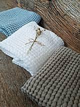 Úžitkový textil - Ľanový uterák Natural I (Modrá) - 9201089_