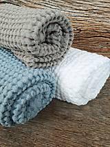 Úžitkový textil - Ľanový uterák Natural I (Modrá) - 9201092_