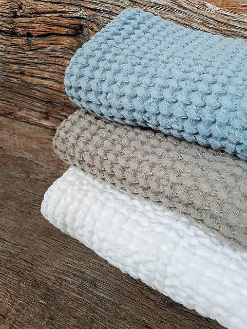 Ľanový uterák Natural I (Modrá)