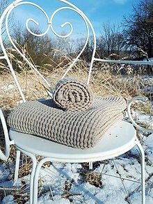 Úžitkový textil - Ľanová osuška a uterák Natural (Modrá) - 9201114_