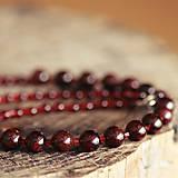 Náhrdelníky - Granátový náhrdelník - 9205142_