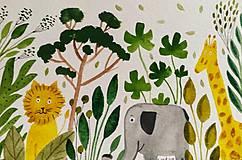 - Safari  pohľadnica  ilustrácia  / originál maľba  - 9205017_