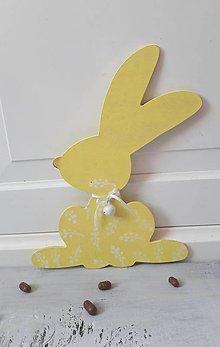 Dekorácie - zajac žltý - 9203280_