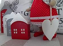 Dekorácie - Domčeky v červenom - 9201941_