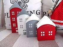 Dekorácie - Domčeky v červenom - 9201942_