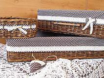 Košíky - Košíky - Ebenové v čokočipkovanej košieľke - 9202798_