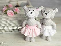 Hračky - Slečinka v ružovom alebo bielom - 9203574_