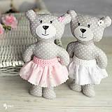 Hračky - Slečinka v ružovom alebo bielom - 9203575_