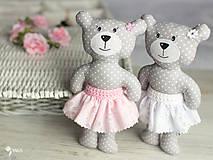 Hračky - Slečinka v ružovom alebo bielom - 9203576_