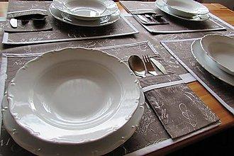 Úžitkový textil - Vintage prestieranie v hnedom Zľava!!! - 9202604_