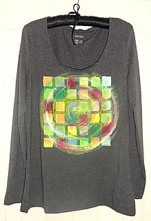 Tričká - tričko maľované - farebná sivá - 9203277_