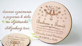 Papiernictvo - Set oznámenia + pozvania k stolu - 9202079_