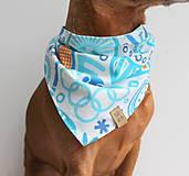 Pre zvieratká - Oli - Obojstranná šatka pre psíkov - 9203422_
