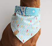 Pre zvieratká - Oli - Obojstranná šatka pre psíkov - 9203432_