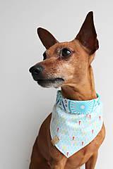 Pre zvieratká - Oli - Obojstranná šatka pre psíkov - 9203440_