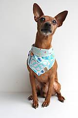 Pre zvieratká - Oli - Obojstranná šatka pre psíkov - 9203442_