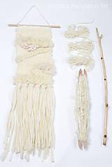 - NATURAL Ručne tkaná vlnená tapiséria - 9202424_