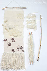 - NATURAL Ručne tkaná vlnená tapiséria - 9202478_
