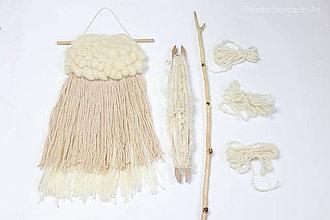 Dekorácie - NATURAL Ručne tkaná vlnená tapiséria - 9202383_