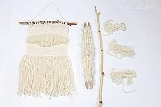 Dekorácie - NATURAL Ručne tkaná vlnená tapiséria - 9202394_