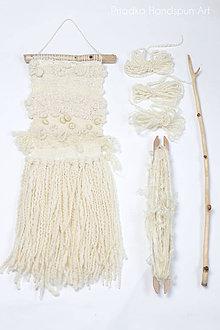 Dekorácie - NATURAL Ručne tkaná vlnená tapiséria - 9202408_
