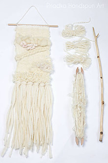 Dekorácie - NATURAL Ručne tkaná vlnená tapiséria - 9202424_