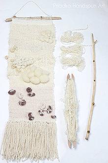 Dekorácie - NATURAL Ručne tkaná vlnená tapiséria - 9202478_