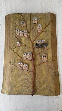 """Obrazy - Drevený obraz - """"Vtáčí strom"""" - 9202973_"""