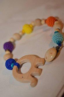Detské doplnky - Detský náhrdelník(kusátko) so sloníkom - 9205700_