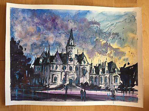 48a36e68e Kastiel Budmerice / c_watercolors - SAShE.sk - Handmade Obrazy