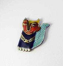 Odznaky/Brošne - Tana šperky - keramika/zlato - 9203046_