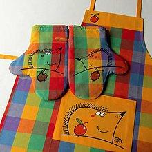 Úžitkový textil - BODLINY - zástěra a chňapky - 9205220_