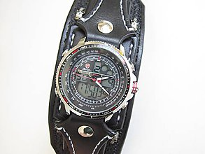 Náramky - Gotické hodinky čierne - 9205513_