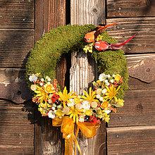 Dekorácie - Veľkonočný venček s lienkou a vtáčikmi - 9201594_