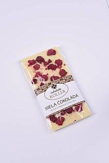 Potraviny - Biela čokoláda s malinami - 9205136_