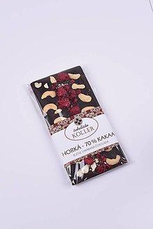 Potraviny - Horká čokoláda s malinami a kešu - 9205191_
