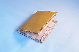 Peňaženky - Kožená peňaženka -žltá - 9203165_