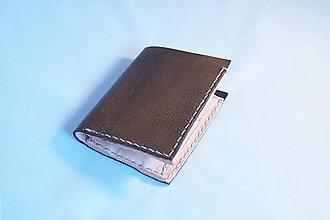 Peňaženky - Kožená peňaženka -hnědá, starý vzhled - 9203192_