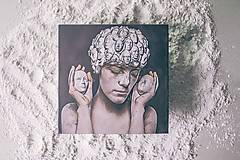 Papiernictvo - Leporelo 13x13 s autorskou ilustráciou ,,Projekt hlavy,, - 9201817_