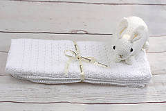 Biela detská deka FINE