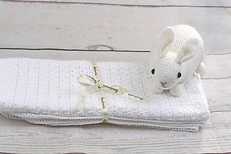 Textil - Biela detská deka FINE - 9202596_