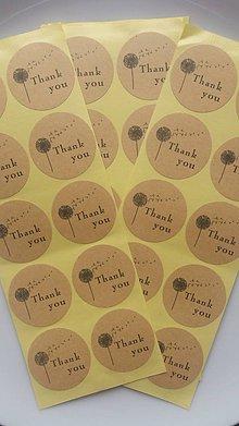 Papier - Samolepky Thank you - 9202869_