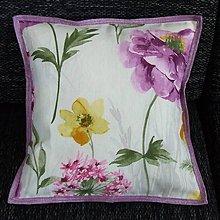 Úžitkový textil - Veľké kvety s fialovým melírom -  vankúš(1) 40x40 - 9202097_