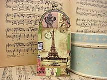 Taštičky - Víceúčelová kapsička - Vintage Paris - 9203613_