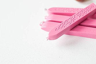 Suroviny - Pečatný vosk s knôtom / 25 odtieňov (Ružová tmavšia) - 9202021_