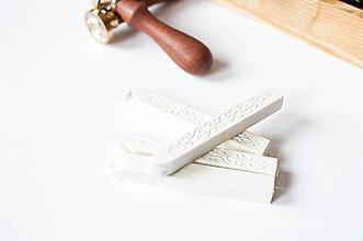 Suroviny - Pečatný vosk s knôtom / 25 odtieňov (Biela) - 9202038_