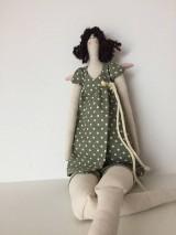 Bábiky - ZĽAVA !! anjelka v zelených šatách - 9201655_