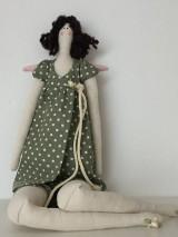 Bábiky - ZĽAVA !! anjelka v zelených šatách - 9201658_